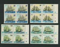 SAM32) Samoa 1981 Sailing Ships III MUH blocks of 4