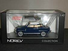 NOREV 770073 FIAT 1400 CABRIOLET 1950 BLUE DIECAST MODEL CAR