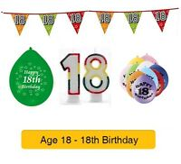 AGE 18 - Happy 18th Birthday Party Balloons, Banners & Decorations