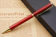 jinhao handmade Twist Golden Trim Red Wood Ballpoint Pen
