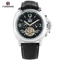 FORSINING Day Tourbillon Luminous Men's Self-Wind Mechanical Wrist Watch Gift