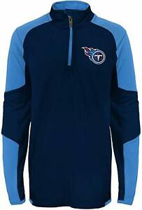 Outerstuff NFL Football Kids Boys Tennessee Titans 1/4 Zip Performance Top