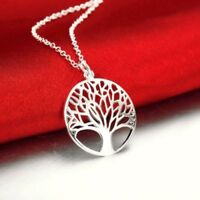 Elegant Pure 925 Sterling Silver Tree of Life Necklace (Pendant + Chain)