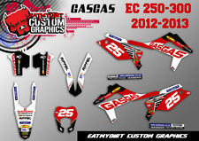 GASGAS EC 250 300  2012 - 2013 CUSTOM GRAPHICS KIT MX DECALS MOTOCROSS STICKERS