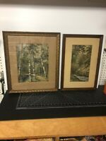 Early 20th Century Landscape Painting Prints By C. Hooper Framed Signed