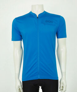 POC Blue Trail Tee Full-Zip Bike Bicycle Cycling Jersey Mens Medium