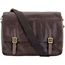 Fossil Defender Brown Leather Messenger Men's Handbag MBG9037201