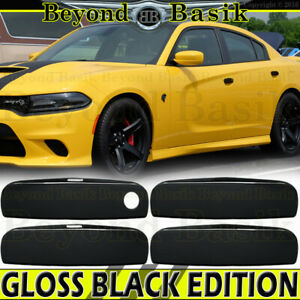 For 2011-18 2019 2020 2021 DODGE CHARGER GLOSS BLACK Door Handle Covers Overlays