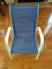Metal And Mesh Blue and white color chair for kids