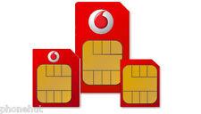Vodaphone PAYG pay as you go sim card Standard/ Micro/Nano 3 in 1 Triple sim NEW