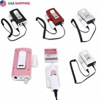 Electric Nail File Acrylic Drill Rechargeable Manicure Tool Pedicure Machine US