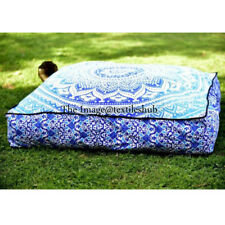 Large Ombre Indian Square Floor Pillow Meditation Cushion Cover Ottoman Pouf New