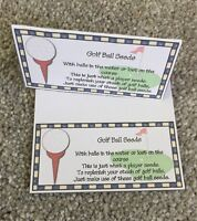 Golf Ball Seeds Novelty Topper Birthday/fathers Day Gift Present