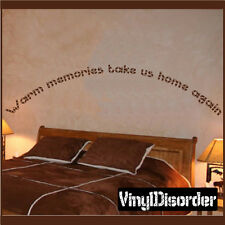 Warm memories take us home again. Wall Quote Mural Decal-familyphotosquotes23
