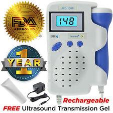 Sonda 3MHz Angelsounds Doppler Fetal, bebé monitor de corazón, retroiluminación LCD, JPD100B