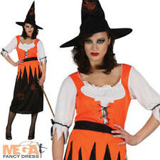 Witchy Witch Ladies Fancy Dress Halloween Witches Womens Adults Costume Outfit