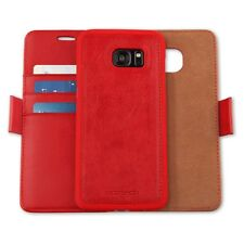 Samsung Galaxy S7 Edge Leather Wallet w/Removable Phone Case & Magnetic Closure