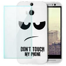 Coque Silicone - HTC One M8 - Housse Anti-choc Case Motif Back Cover +Film Vitre