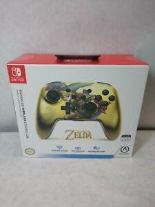PowerA The Legend Of Zelda Gold Nintendo Switch ENHANCED WIRELESS Controller NEW