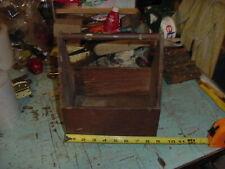 WOOD BOX SHABBY CRATE TRAY CADDY PLANTER FARM KITCHEN CABIN DECOR