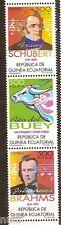Equatorial GUINEA ECUATORIAL Edifil # 237/239 ** MNH Buey Shubert Brahms