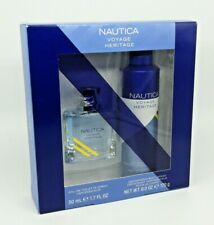 Nautica Voyage Heritage Set:Spray Cologne1.7oz & Deodorizing Body Spray 6oz NEW