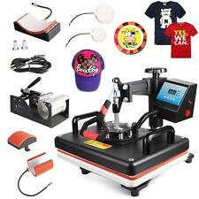 5 In 1 Digital Heat Press Machine Sublimation For/ T-Shirt/Mug/Plate Hat Printer