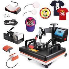 5 In 1 DIY Heat Press Machine Digital Transfer Printer for T-Shirt Mug Plate Hat