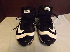 Men's Nike Fastflex Huarache White & Black Baseball Cleats Size 9.5