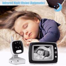 "3.5"" Digital Wireless Baby Monitor Video Audio Night Vision Camera 2 Way Talk B"