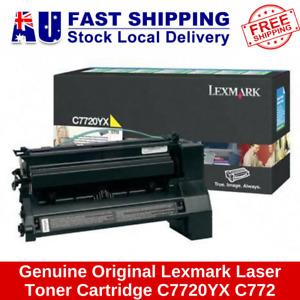 Genuine Original Lexmark HIGH YIELD YELLOW Laser Toner Cartridge C7720YX C772
