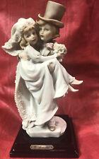 G Armani Bride and Groom Figurine Porcelain Bisque ~ Rare✨Nice✨
