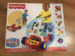 FISHER PRICE BABY WALKER BRILLIANT BASICS WALKER TO WAGON IN BOX
