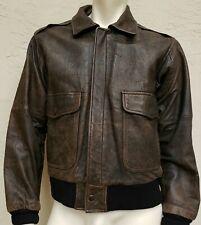 Vintage Men's Leather Bomber Jacket SZ 38 Airborne M Julian Adventures