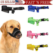 Dog Muzzles for Biting Barking Chewing Breathable Mesh Soft Flannel Protects pet