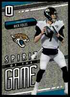 2019 PANINI UNPARALLELED SPIRIT OF THE GAME NICK FOLES JAGUARS #SG-NF INSERT