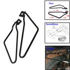 2xSolid Steel Motorycle Bracket Rack Saddle Pannier Bag Spacer Support Bar Trims