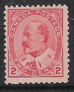 Canada 2¢ Carmine, Type II 1903 Edward VII Sc #90, F, MNH, CV $30.00 - dw18q