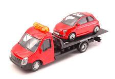 Fiat 500 2007 + Flatbed Transporter 1:43 Model BBURAGO