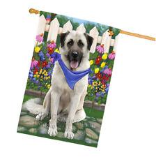 Spring Floral Anatolian Shepherd Dog House Flag Flg49726
