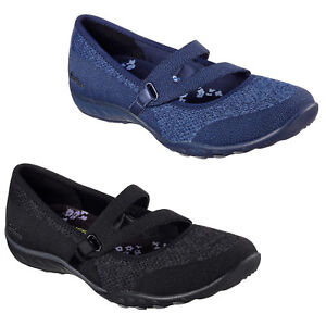 Skechers Relaxed Fit: Breathe Easy - Lucky Day Shoes Womens Strap Trainers 23005