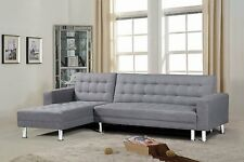 Sectional Modern Sofa Couch Living Room Furniture Futon Love Seat Grey Cloth