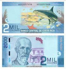 Costa Rica 2000 Colones 2009 (2011)  P-275  Banknotes  UNC
