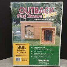 "Outback Plastic Doorway Cover For  Small Dog House Door Flaps 14.5"" X 9.75"" NEW"