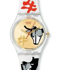 "SWATCH GENT Chinese New Year Special 2009 ""Bulls on Parade"" (ge222std) MERCE NUOVA"