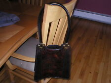 Authentic Handbag Maxon Collection Italy dark brown color NEW