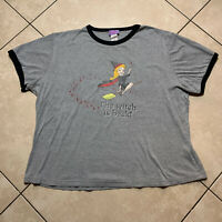 Vintage 2004 Bewitched Movie Promo Ringer T-Shirt XL VTG Nicole Kidman Women USA