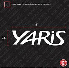 2X TOYOTA YARIS sticker vinyl decal