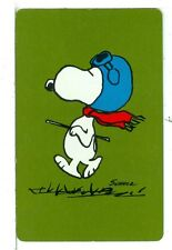 "Single Playing Card Peanuts, Snoopy ""The Ace"" Hallmark 100A Green"