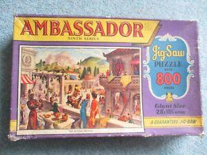 800 PIECE TOWER PRESS THE ROMAN FESTIVAL AMBASSADOR QUALITY ART VINTAGE JIGSAW P